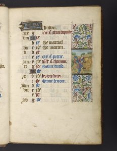 July calendar page (f. 7r), Rouen book of hours (Ms. Codex 1056)