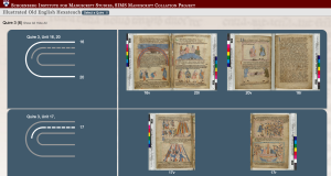BL Cotton Claudius b iv, aka the Old English Illustrated Hexateuch. Showing Quire 3 (4, +2).