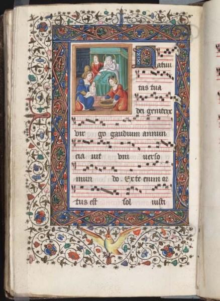 Free Library of Philadelphia Lewis E 7, Processional, f. 116v (http://libwww.freelibrary.org/medievalman/ecw.cfm?ItemID=mca0071162)